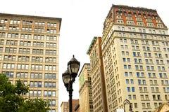 Lámpara de calle cuadrada de la unión, Nueva York Imágenes de archivo libres de regalías