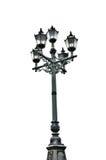 Lámpara de calle de mirada antigua de cuatro postes foto de archivo