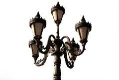 Lámpara de calle del arrabio  Foto de archivo libre de regalías