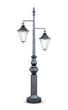 Lámpara de calle en el fondo blanco representación 3d Foto de archivo
