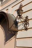 Lámpara de calle hermosa en estilo del vintage fotografía de archivo libre de regalías