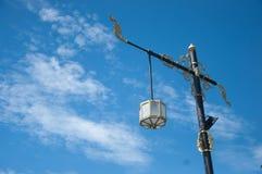 Lámpara de calle poste arte tailandés Imagen de archivo