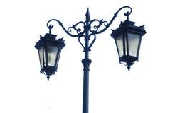 Lámpara de calle vieja aislada Imágenes de archivo libres de regalías