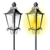 Lámpara de calle vieja del vintage stock de ilustración