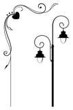 Lámpara de calle y marco romántico Fotos de archivo