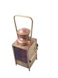 Lámpara de cobre amarillo de la gasolina de la vendimia Fotografía de archivo libre de regalías