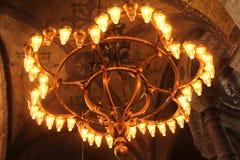 Lámpara de cobre amarillo rústica hermosa Imágenes de archivo libres de regalías