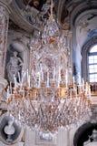 Lámpara de cristal grande Foto de archivo libre de regalías