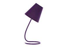 Lámpara de escritorio aislada en blanco Imágenes de archivo libres de regalías
