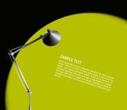 Lámpara de escritorio con la luz verde Imagen de archivo
