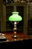 Lámpara de escritorio de cobre amarillo Foto de archivo libre de regalías