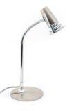 Lámpara de escritorio de plata del halógeno sobre blanco Imágenes de archivo libres de regalías