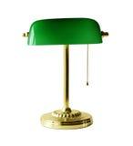 Lámpara de escritorio del banquero Imagen de archivo libre de regalías