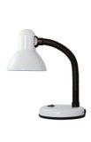 Lámpara de escritorio en background.jpg blanco Fotos de archivo