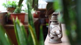 Lámpara de keroseno Foto de archivo