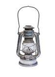 Lámpara de keroseno aislada Fotos de archivo