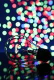 Lámpara de la belleza en fondo ligero imágenes de archivo libres de regalías