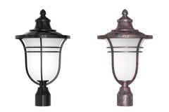 Lámpara de la columna de la calle de la linterna representación 3d Imágenes de archivo libres de regalías