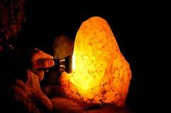 Lámpara de la cueva Imagen de archivo