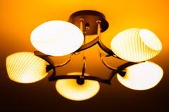 Lámpara de la ejecución en el cuarto Imagen de archivo