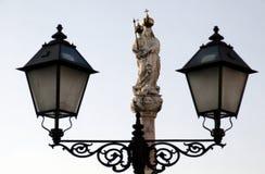 Lámpara de la estatua Imágenes de archivo libres de regalías