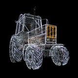 Lámpara de la guirnalda del tractor aislada en negro Fotografía de archivo