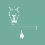 Lámpara de la idea Foto de archivo libre de regalías