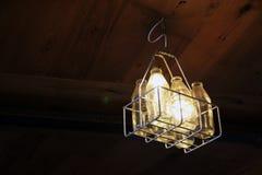 Lámpara de la iluminación de la botella de leche Fotos de archivo libres de regalías