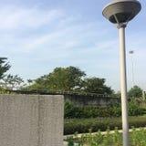 Lámpara de la iluminación en el parque público Fotos de archivo libres de regalías