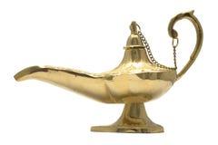 Lámpara de la magia del oro Imagen de archivo