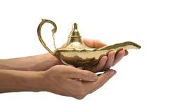 Lámpara de la magia del oro Imágenes de archivo libres de regalías