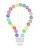 Lámpara de la rueda dentada stock de ilustración