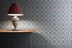 Lámpara de la vendimia en fondo de los azulejos Fotografía de archivo libre de regalías
