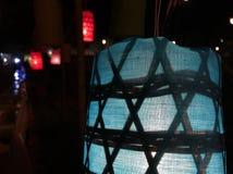 Lámpara de Lanna, como la estrella Foto de archivo