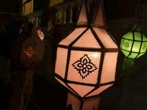 Lámpara de Lanna, como la estrella Fotografía de archivo