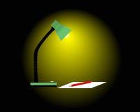 Lámpara de lectura stock de ilustración