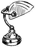 Lámpara de los banqueros ilustración del vector