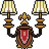 lámpara de lujo del arte del pixel del vector ilustración del vector