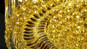 Lámpara de lujo de los cristales Con la reflexión brillante bling almacen de video