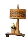 Lámpara de madera Foto de archivo libre de regalías