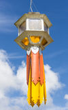 Lámpara de madera Lanna Style Imagenes de archivo