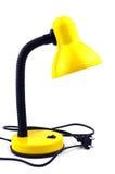 Lámpara de mesa amarilla Fotos de archivo libres de regalías