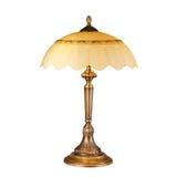 Lámpara de mesa del vintage aislada en blanco Fotos de archivo