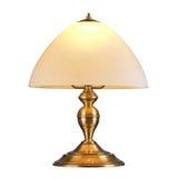 Lámpara de mesa del vintage aislada en blanco Foto de archivo libre de regalías