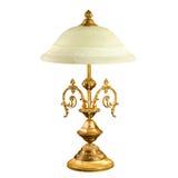 Lámpara de mesa del vintage aislada en blanco Fotografía de archivo libre de regalías