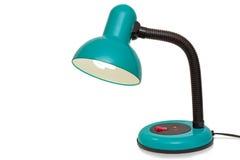 Lámpara de mesa en un fondo blanco imagen de archivo