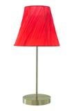 Lámpara de mesa roja Imágenes de archivo libres de regalías