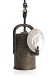 Lámpara de minero foto de archivo