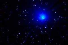Lámpara de neón con los rayos azules Foto de archivo libre de regalías