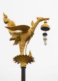 Lámpara de oro del cisne imagenes de archivo